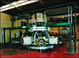 Machine on test prior to despatch