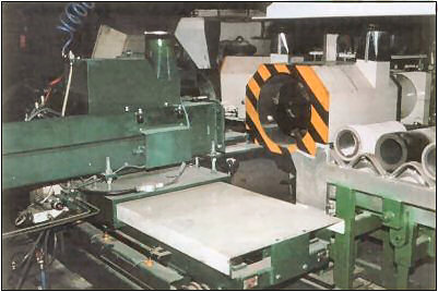 Tubular and ring shaped castings are made on Gibson's centrifugal casting equipment