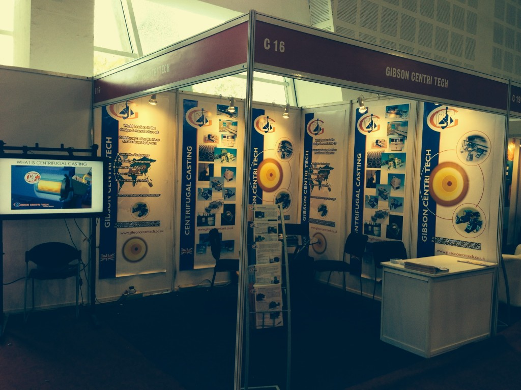 Gibson Centri Tech exhibition stand at IFEX 2014 India